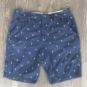 💥Carbon chino anchor print shorts